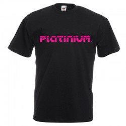 TEE SHIRT MONSTROPLANT NOIR ET ROSE XL PLATINIUM