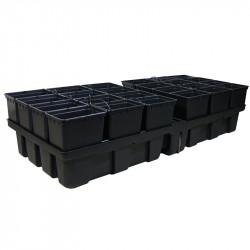 Platinium HydroPro 24 pots - 2m² 200x100x38,5cm
